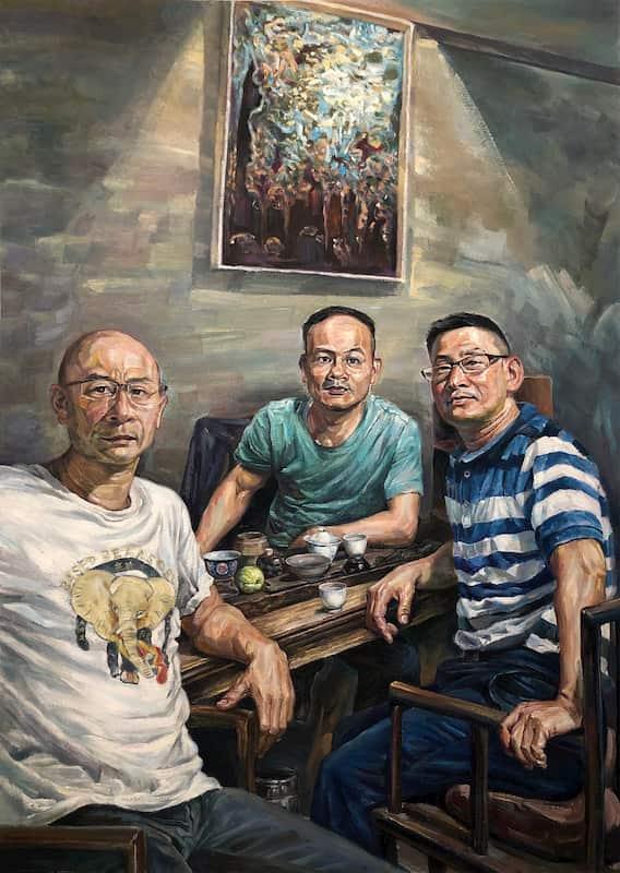 Portrait three men